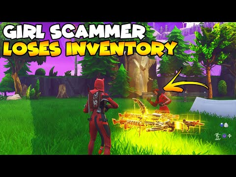 Girl Scammer Loses Whole Inventory! 💯😱 (Scammer Gets Scammed) Fortnite Save The World