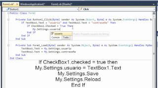 Sistema de Login que recuerda tus datos al cerrar [Visual Basic .NET]