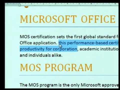 Microsoft Office Word 2010 ตอนที่ 2
