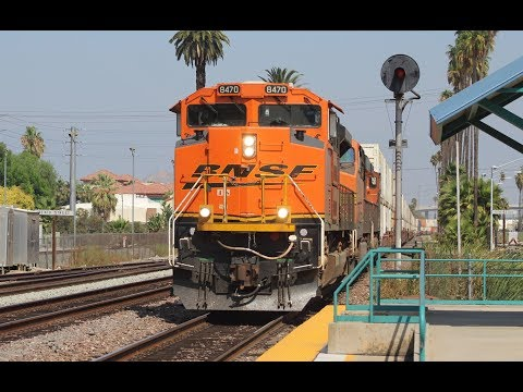Union Pacfic and BNSF Trains at West Colton Yard and Riverside