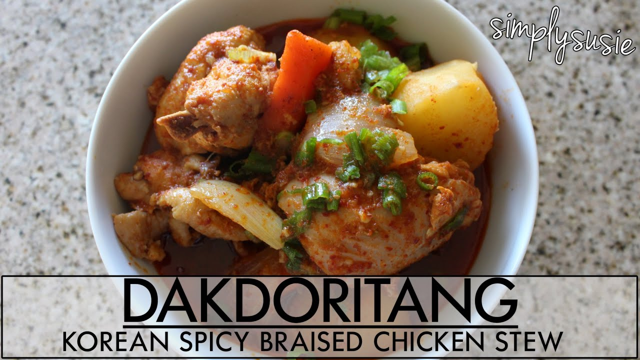 HOW TO MAKE: Korean Spicy Braised Chicken Stew Recipe | Dakdoritang or ...