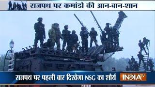 NSG Commandos Rehearse for 26th January Parade at Rajpath