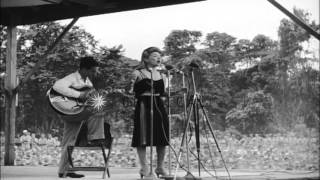 Bob Hope and Frances Langford  in U.S.O. tour, entertain U.S. troops on Bougainvi...HD Stock Footage