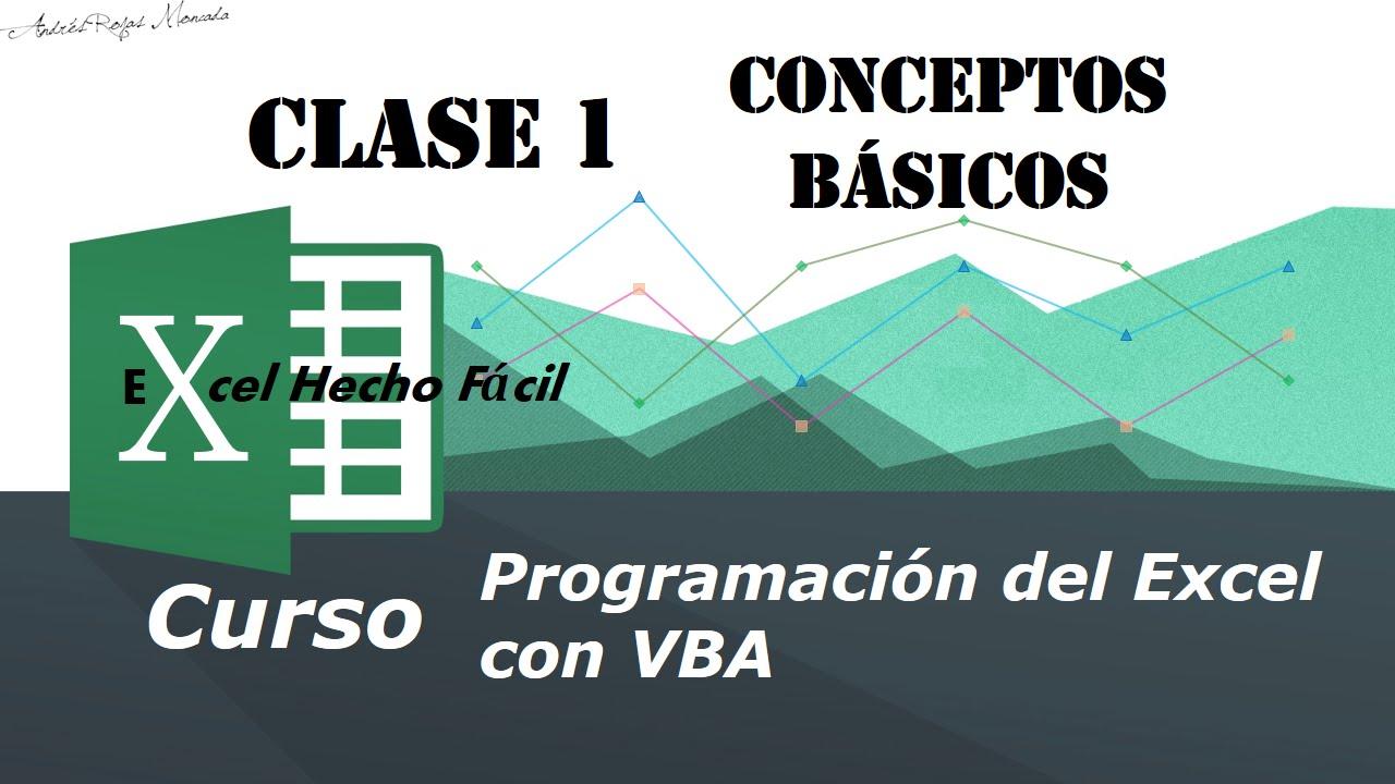 Conceptos básicos – Clase 1 – Programación del Excel con VBA