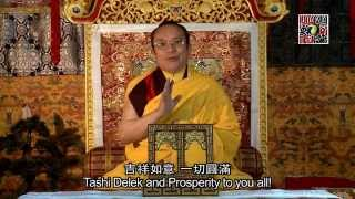 2015 New year Message (language:Tibetan) (中、英文字幕)