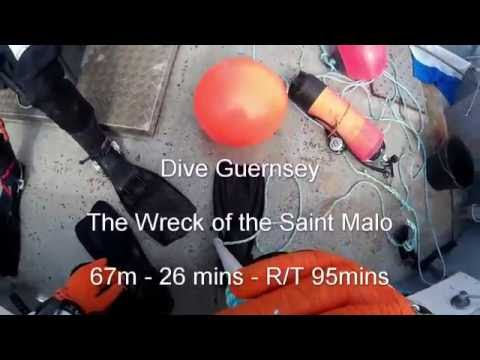 Dive Guernsey - Wreck of Saint Malo - 27-8-16
