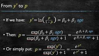 Video 8: Logistic Regression - Interpretation of Coefficients and Forecasting