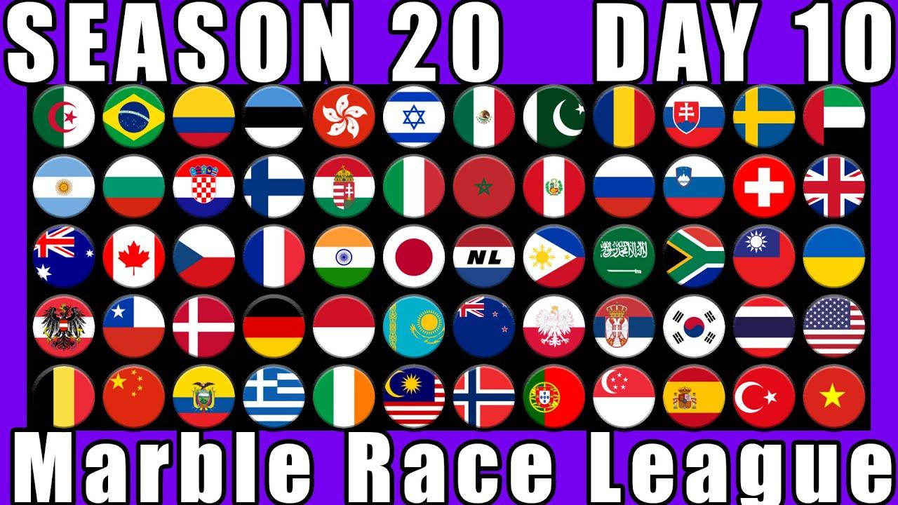 Marble Race League Season 20 Day 10 Marble Race in Algodoo / Marble Race King