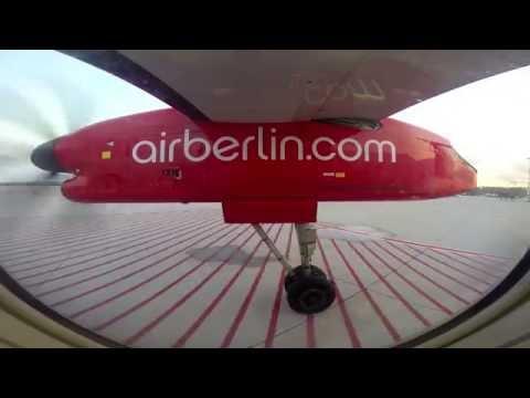 Realtime: airberlin Bombardier Dash-8 Q400 Düsseldorf