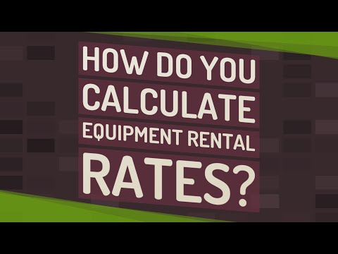How Do You Calculate Equipment Rental Rates?