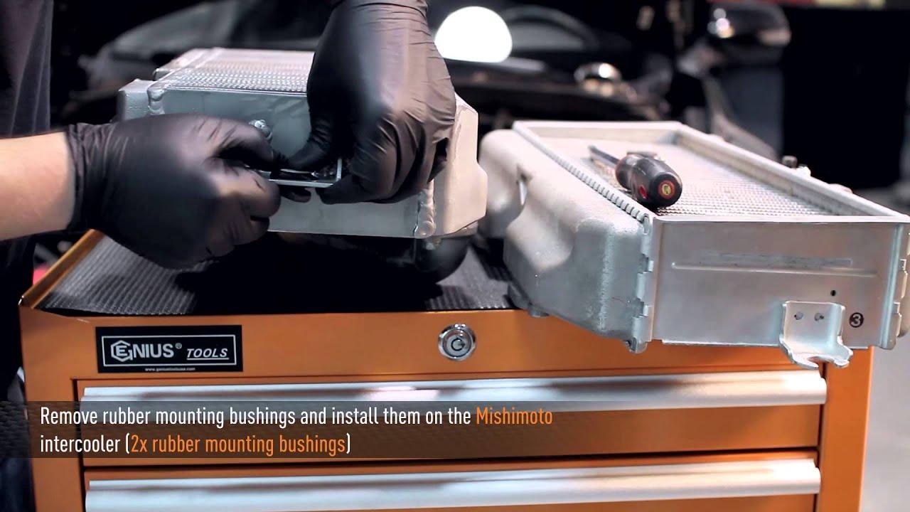 2008 2015 subaru wrx sti performance top mount intercooler kit installation by mishimoto youtube