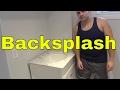 Installing A Bathroom Vanity Backsplash With Tile Glue-Marble