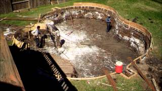 Pool Timelapse Excavation to Gunite