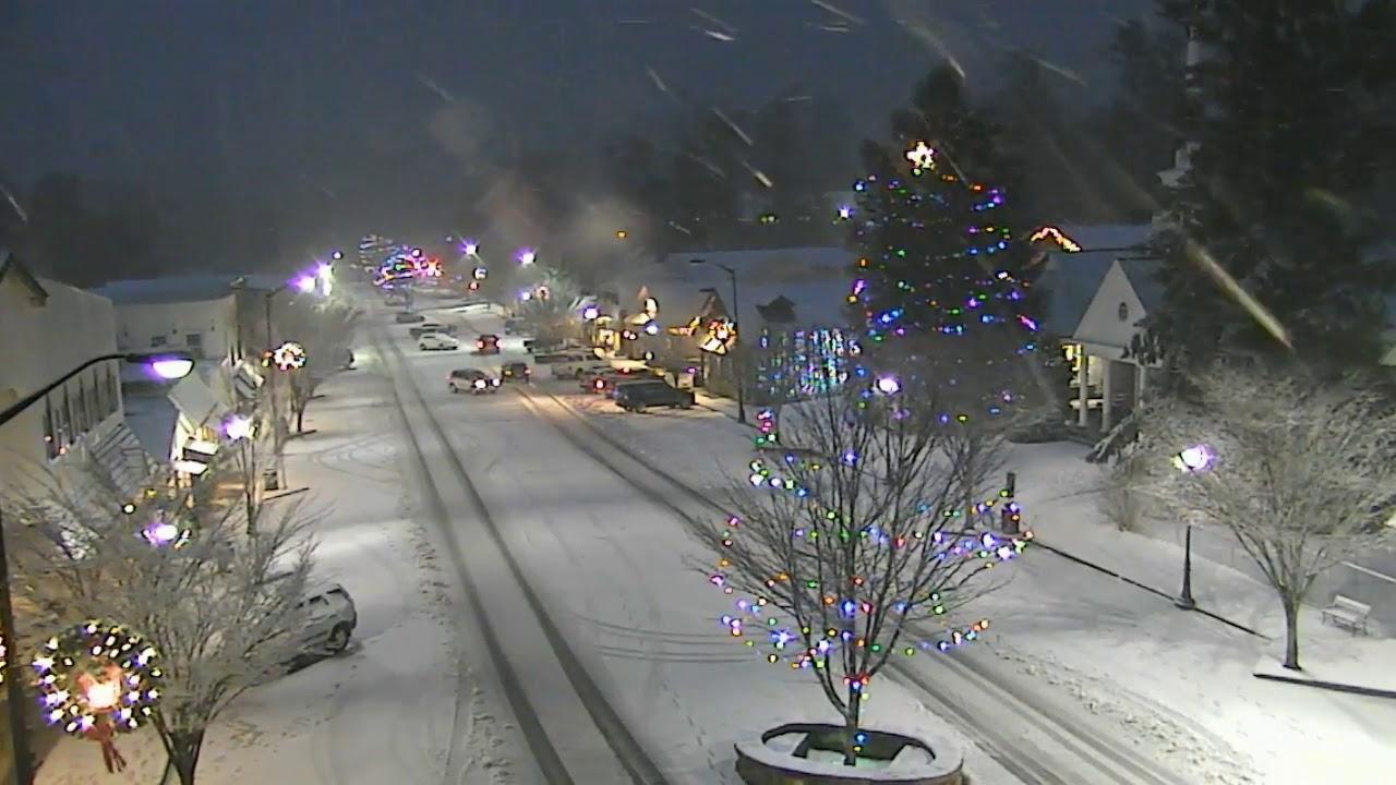 Highlands Nc Snowfall Christmas Youtube