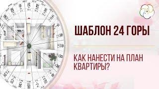 Как наложить ШАБЛОН 24 ГОРЫ на план квартиры/ Для проведения активаций по Ци Мэнь Дунь Цзя  и Фэншуй