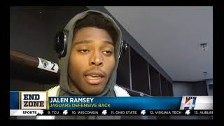 Jalen Ramsey on INT & Being Disrespected