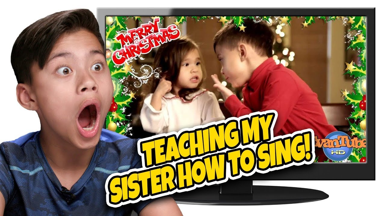 TEACHING MY SISTER HOW TO SING!!! Kids React to Christmas Carol Flashback! TOP 10 Countdown #5
