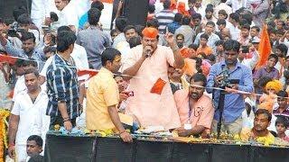 Raja Singh Bold Speech At Sri Rama Navami Shoba Yatra 2014 At Hyderabad