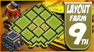 LAYOUT FARM TH9/CV9 | THE BEST | DISPERSOR AEREO | FARMING TH9 CLASH OF CLANS 2015
