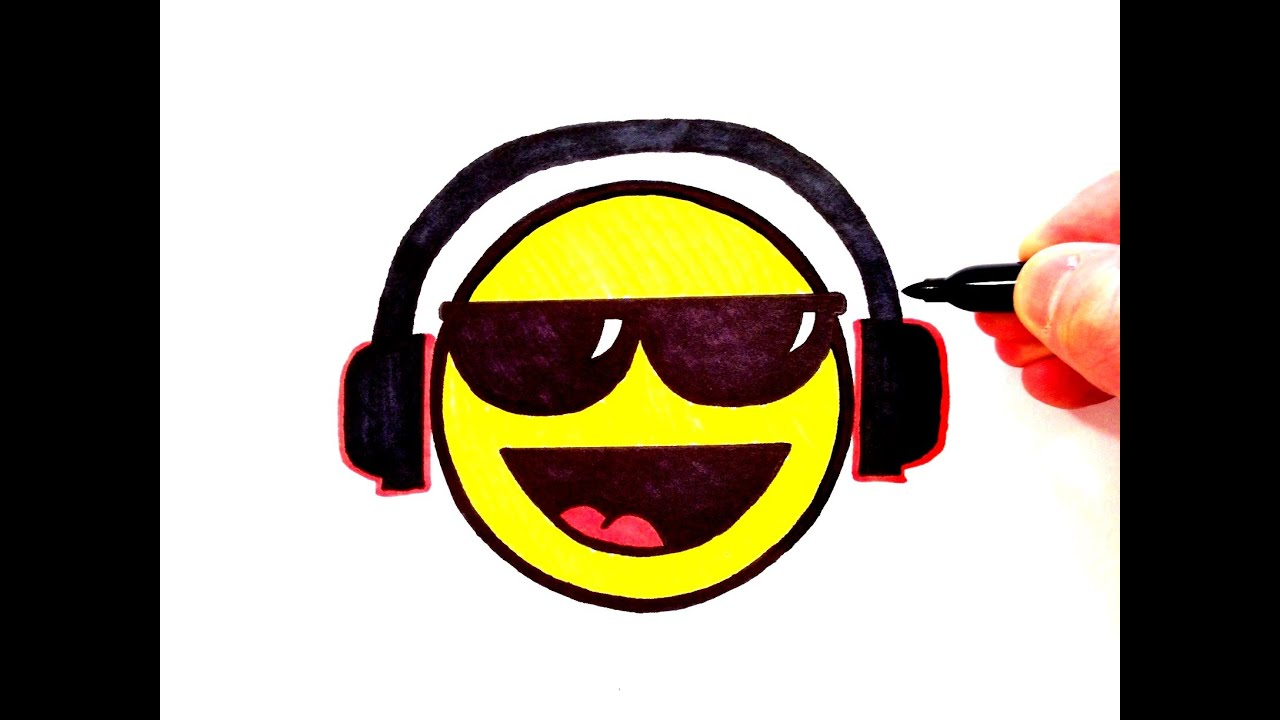 Smiley face with sunglasses