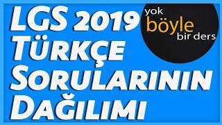LGS 2019 Türkçe Sorularının Dağılımı 6