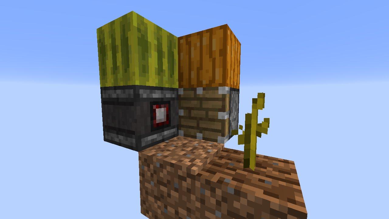 Minecraft 111 Auto Micro Melonpumpkin Farm Youtube