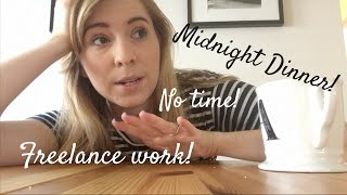Non-Reading Vlog | Work + Midnight Dinner!