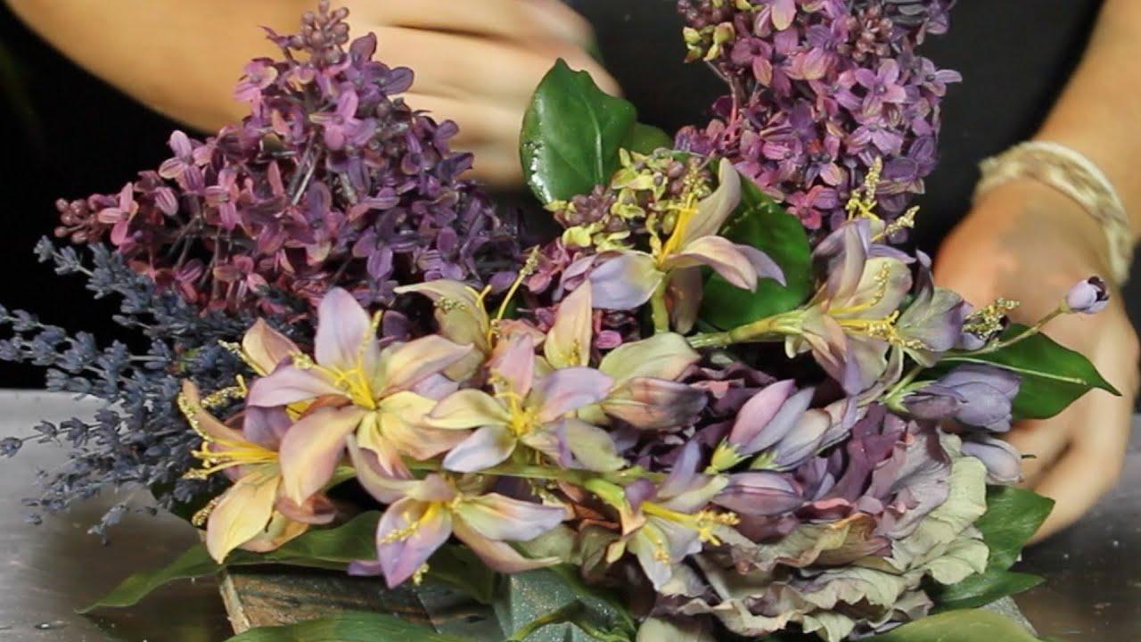 Centro de flor artificial Cultura de flor Sapeando YouTube