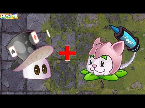 挽植物大戰僵尸2 | Super Plants Max Power Up  [ Magicshroom vs Cattail ]