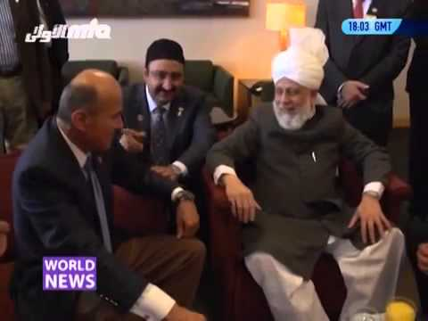 Arrival Scene Of Hazrat Mirza Masroor Ahmad At Los Angeles City USA - by roothmens