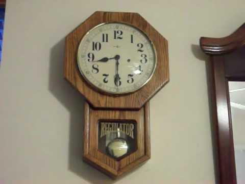 Howard Miller Westminster Chime Regulator Wall Clock Youtube