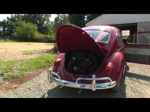 Classic VW BuGs Road Trip Barn Find All Original 1965 Ruby Red Beetle