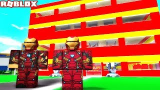 OUR BASE OF SUPER HEROES! Roblox Tycoon Superhero