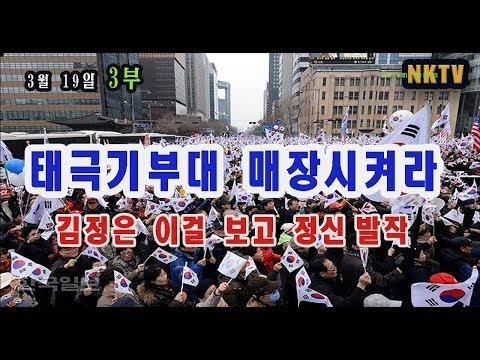 [ NKTV] #_227. 대극기부대를  매장시켜라!  : :대규모 집회에 질겁한  김정은 정신발작 (3월 19일 3부 방송)