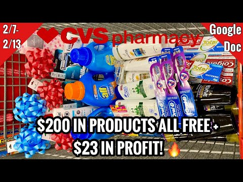 CVS Free & Cheap Coupon Deals & Haul | 2/7 – 2/13 | MONEY MAKER WEEK! $200 In PRODUCTS – Made $23!💥