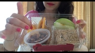 Asmr Eating Starbucks Snack Box Bistro With Cinnamon Dolce Frappuccino And Bananna Nut Bread