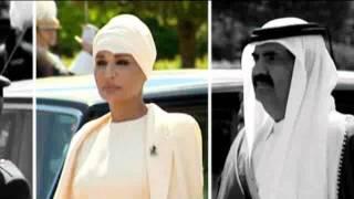 فيديو تعثر الشيخة موزه زوجة أمير قطر في أسبانيا