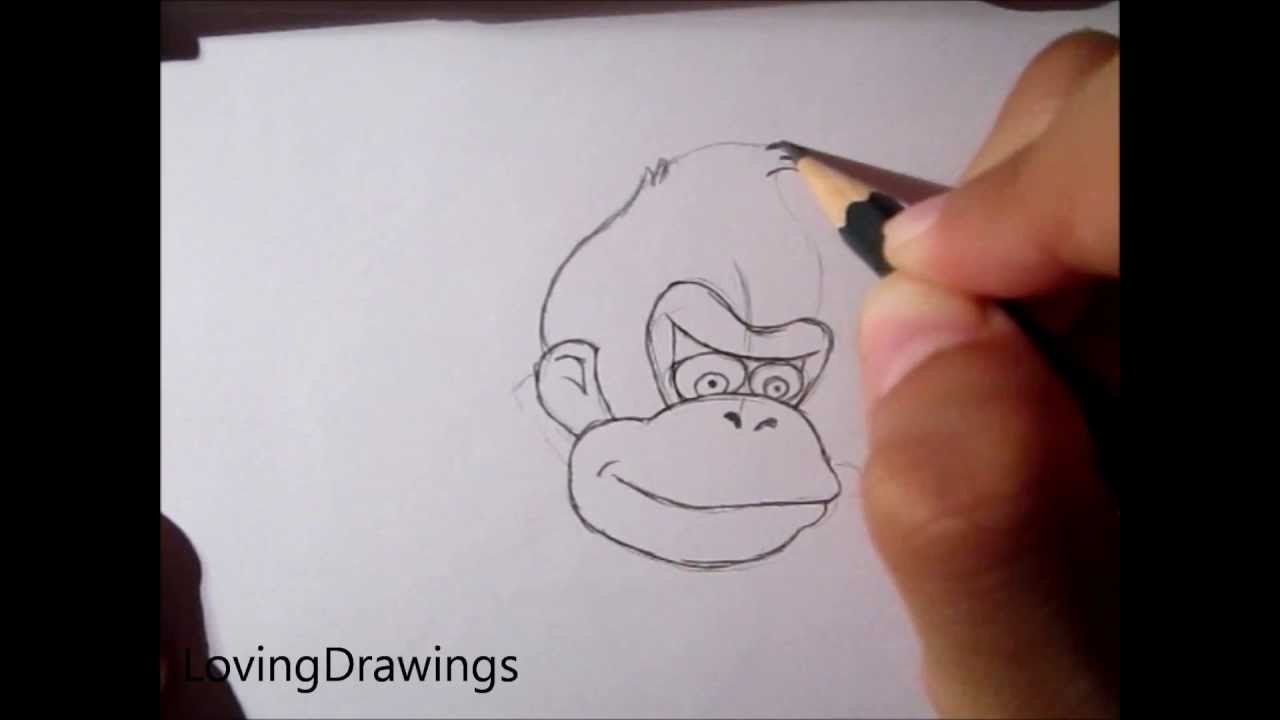 learn to draw donkey kong request youtube