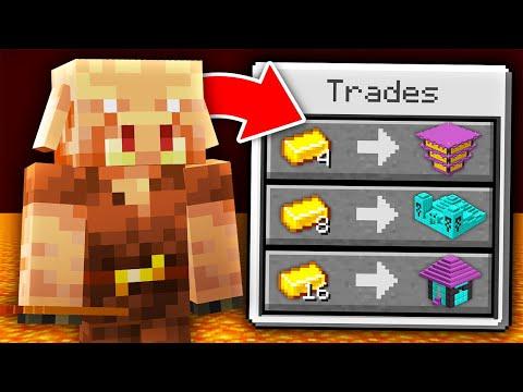 Minecraft, But Piglins Trade Super Structures...