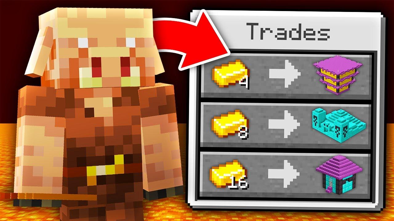 Download Minecraft, But Piglins Trade Super Structures...