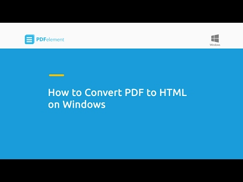 How To Convert PDF To HTML On Windows