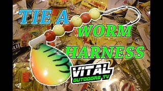 How to tie a Worm Harness for Walleye Fishing