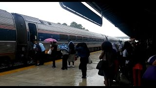 Amtrak Silver Star #92 in the rain at Fort Lauderdale (7.2.16)