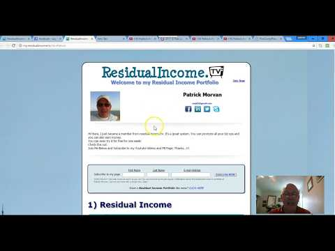 My Residual Income Update 2017