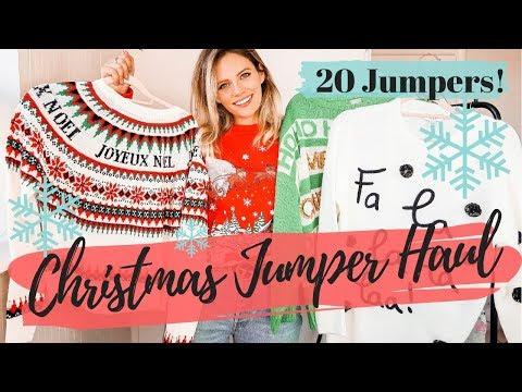 CHRISTMAS JUMPER HAUL    20 XMAS Jumpers!!!!!    COCOA CHELSEA