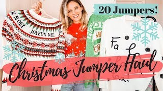 CHRISTMAS JUMPER HAUL || 20 XMAS Jumpers!!!!! || COCOA CHELSEA