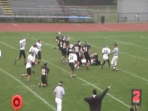 Commack JV09 Reyes/Derival cause fumble v Northport