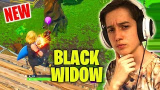 "Black Widow In Fortnite! - ""Another One Bites The Dust"""