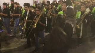 2017 Rowe Mighty Warrior Marching Band Homecoming Tunnel with Middle School Feeder school bands
