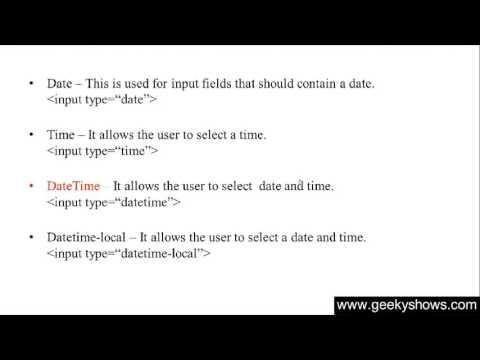 133. Datetime Local In HTML (Hindi)